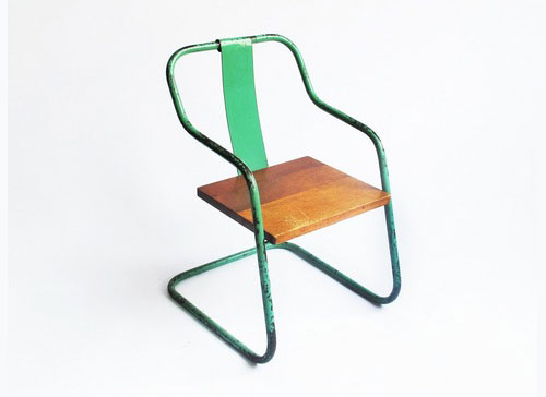 Mondo Cane Green Childrens Chair Chaise Enfant Vintage