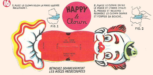 Bon-point-leonard-lille-happy-le-clown-pliage-cirque-1950-rocket-lulu