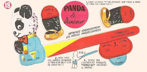 Bon-point-leonard-lille-panda-le-danseur-pliage-cirque-1950-rocket-lulu