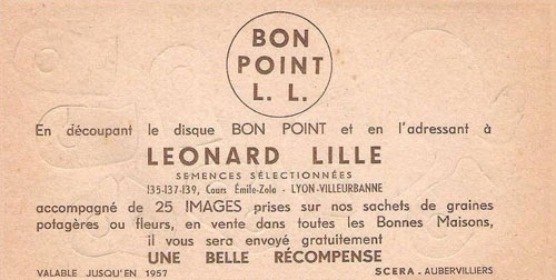 Bon-point-leonard-lille-pliage-cirque-1950-rocket-lulu