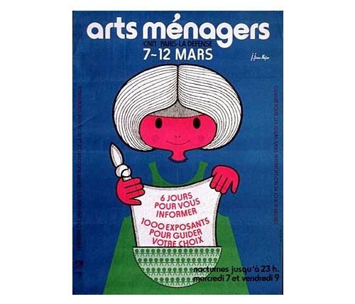 Jean-jirou-najou-affiche-salon-arts-menagers-1979