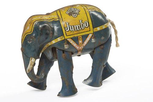 Jumbo-jouet-mecanique-elephant-Blomer-et-Schüler-Allemagne-arts-decoratifs