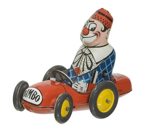 Jouet-ancien-bimbo-clown-mecanique-Joustra-France-1953-vintage-toy-arts-decoratifs