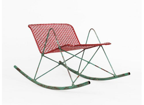 Mondo-Cane-Red-Metal-Children's-Rocker-chaise-enfant-vintage-design-annees-50-USA-rocket-lulu
