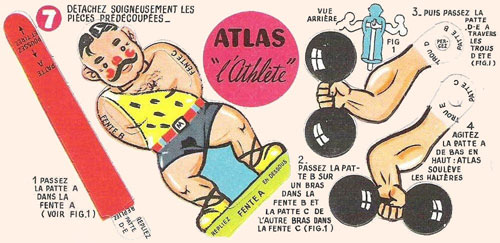 Bon-point-leonard-lille-atlas-athlete-pliage-cirque-1950-rocket-lulu