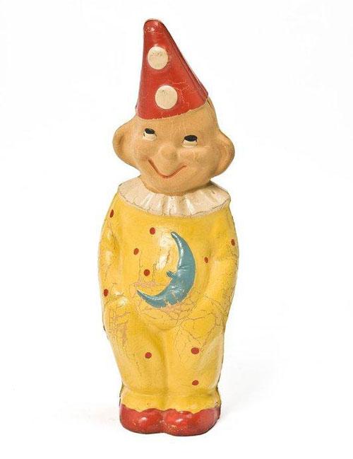 Ancien-jouet-souple-pouet-clown-1960-1970-vintage-toy-arts-decoratifs