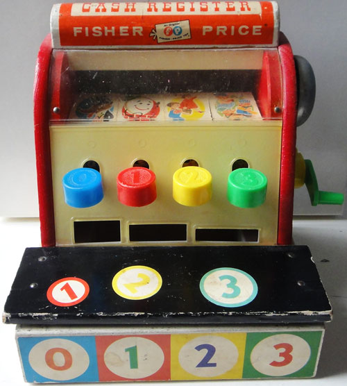 Fisher-Price-cash-register-972-1960-devant-jouet-vintage-trouvaille-rocket-lulu