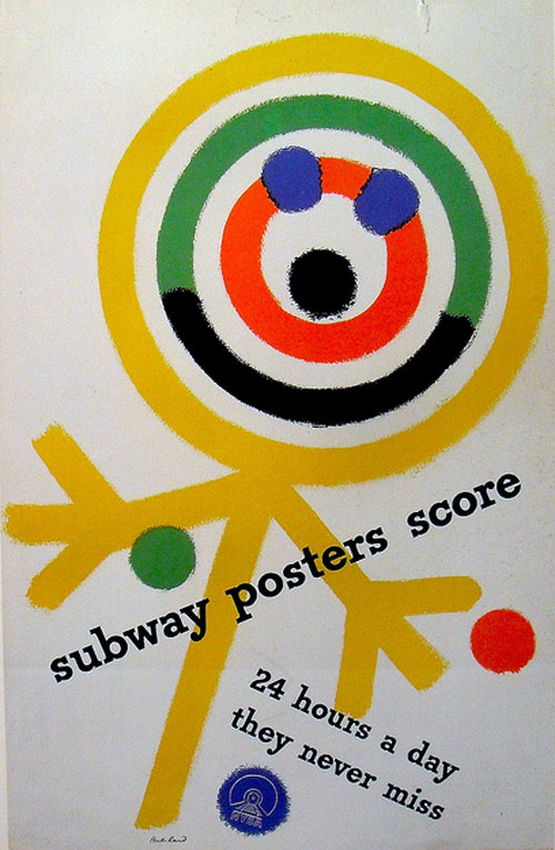 Paul-rand-subway-poster-1949-graphic-rocket-lulu