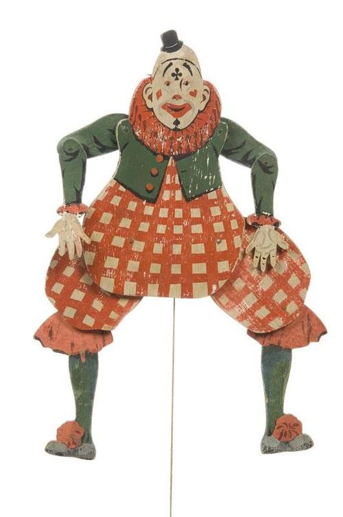 Jouet-ancien-pantin-clown-France-1920-vinatge-toy-arts-decoratifs