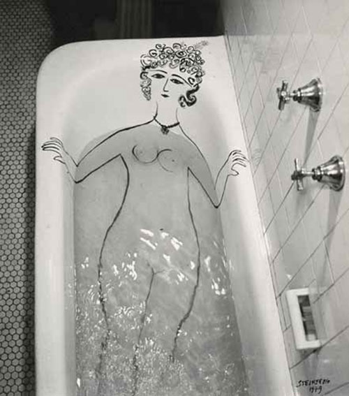 Girl_in_Bathtub_1949saul_steinberg_photo