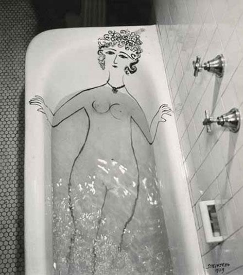 Girl_in_Bathtub_1949saul_steinberg_photo