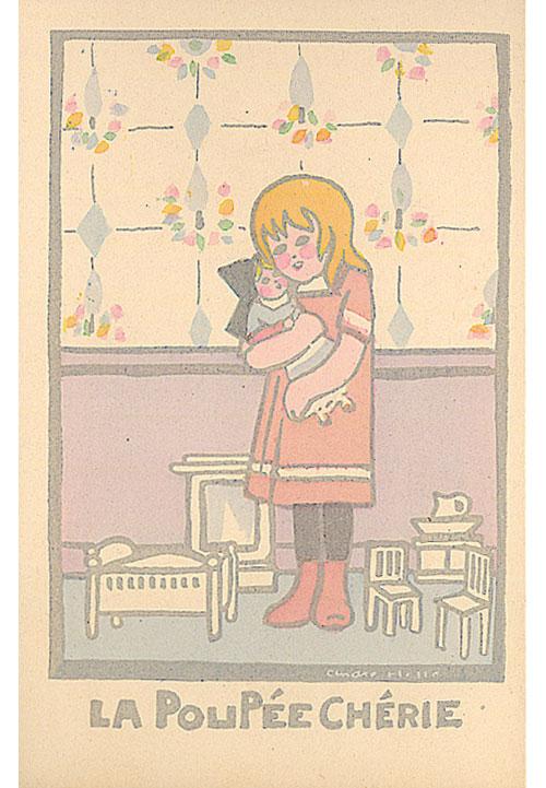 Carte-postale-la-poupee-cherie-andre-helle