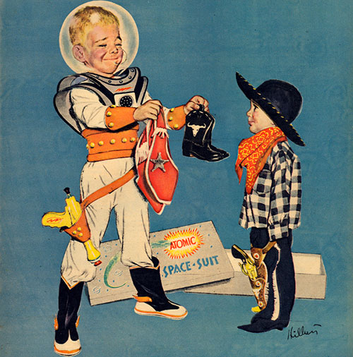 Robert_hilbert_vintage_illustration_spaceman_cowboy_50s