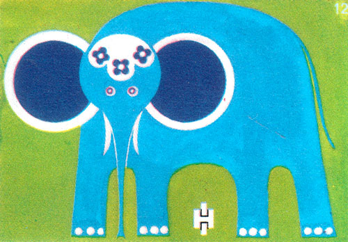 Vintage-enfant-illustration-elephant-zoo-match-label8