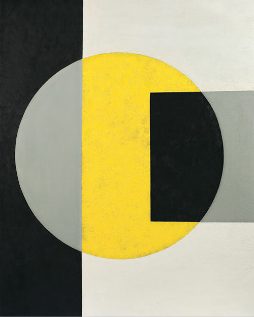 Charles-Green-shaw-black-into-yellow-1970-midcentury-vintage-art