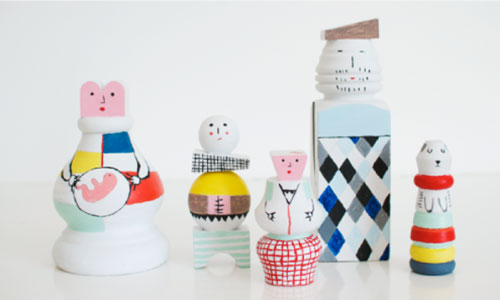 DIY-enfant-jouets-bois-wood-doll-family-kids