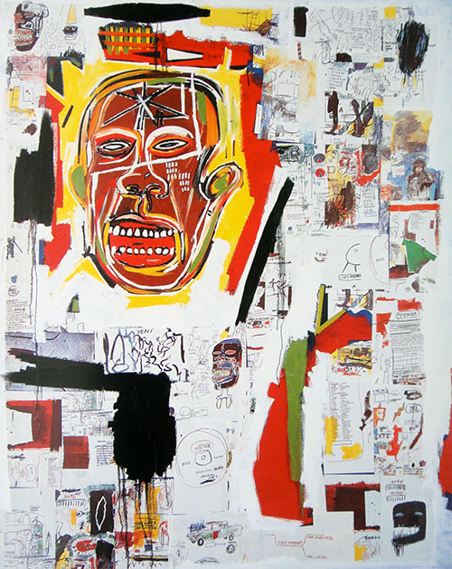 Basquiat-king-of-the-zulus-1984-expo-musee-cantini-marseille-1992
