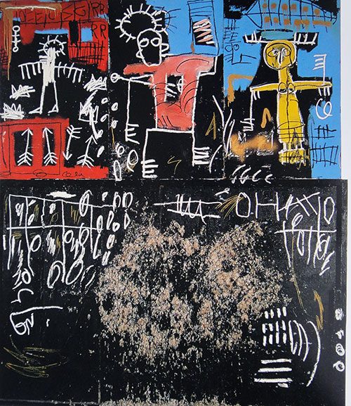Basquiat-black-tar-and-feathers-1982-brooklyn-museum