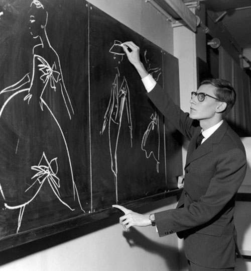 Yves-Saint-Laurent-drawing-models-mode-vintage-fashion