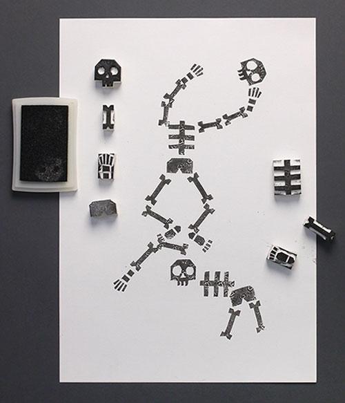 DIY-enfants-halloween-tampons-squelettes-skeleton-stamps-kids-craft-rocket-lulu1