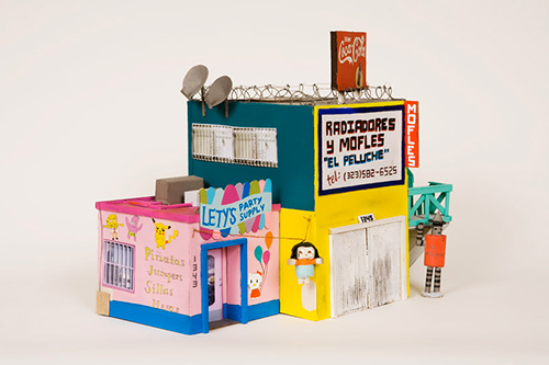 Ana-serrano-building-cardboard-sculpture-collage-art1