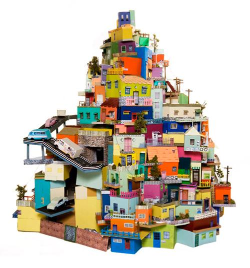 Ana-serrano-cartonlandia-cardboard-sculpture-collage-art
