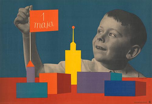 Roman-cieslewicz-maja-may-day-poster-1956-vintage-kids