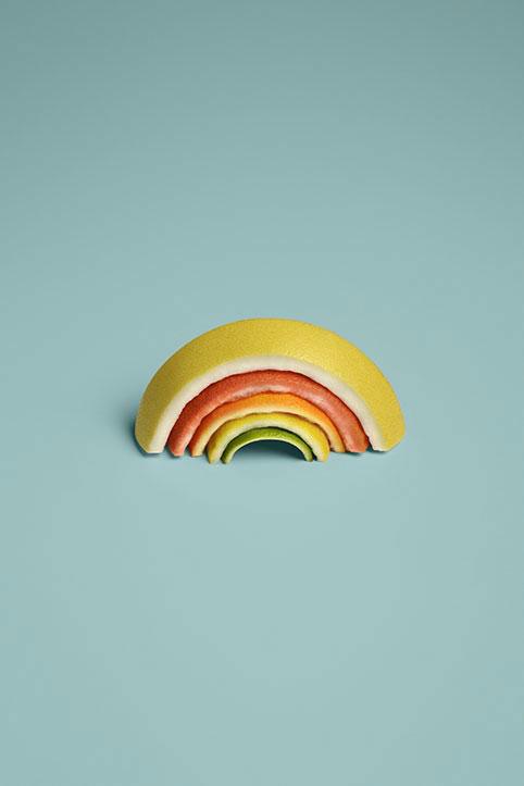 Sarah-illenberger-rainbow-litho-paper-print-food-art