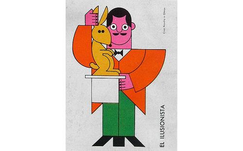 Matchbox-cover-60s-vintage-graphic-magicien-rocket-lulu