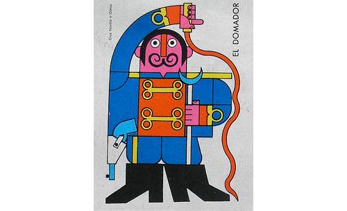 Matchbox-cover-60s-vintage-graphic-dompteur-rocket-lulu