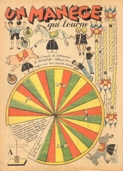 Manege-qui-tourne-kids-vintage-paper-toy-carrousel-rocket-lulu2
