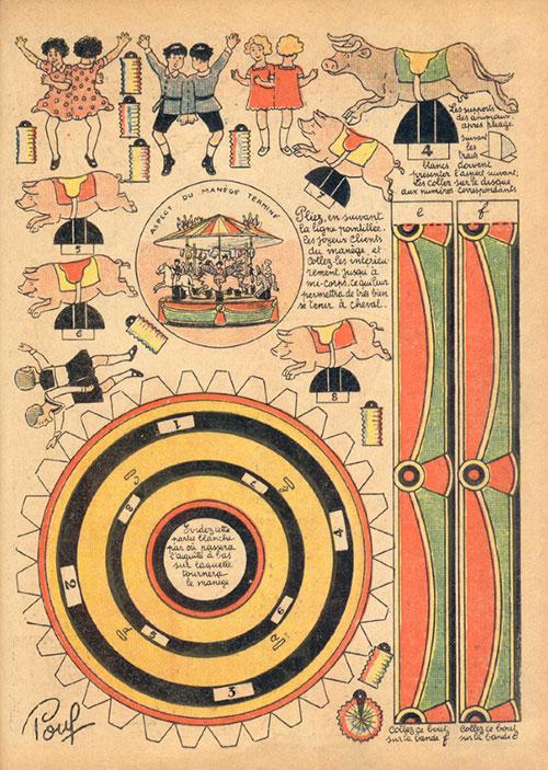 Manege-qui-tourne-kids-vintage-paper-toy-carrousel-rocket-lulu1