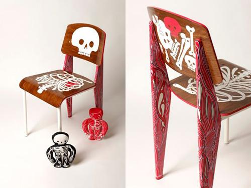 Prouve-revisite-AKSEL-pour-AK-LH-chaise-collage-design-rocket-lulu