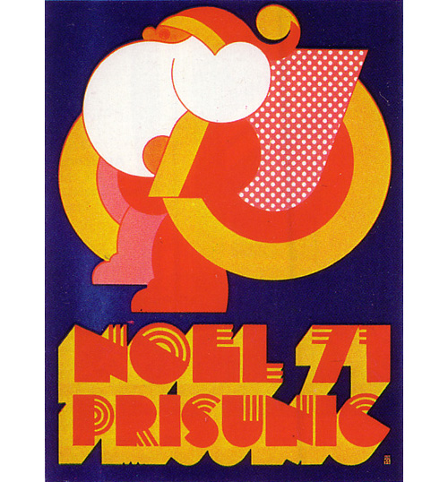 Noel-prisunic-vintage-illustration-christmas-poster-graphic-design-1971-rocket-lulu