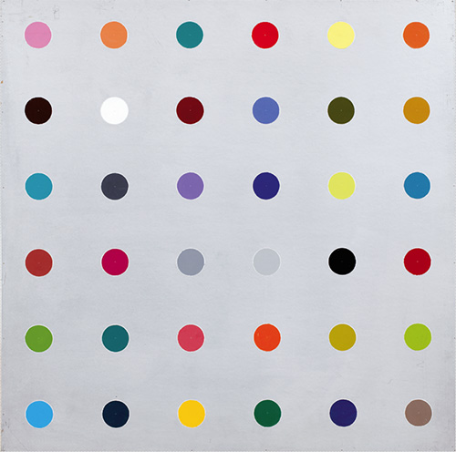 Poul-gernes-peinture-pois-abstrait-dot-painting-abstract-art-1968