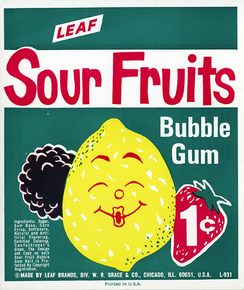 Ancien-packaging-leaf-bubble-gum-sour-fruits-vintage-ad-1960-70-rocket-lulu