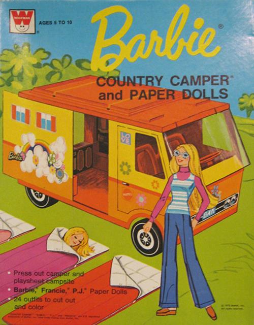 Paper-doll-vintage-enfant-barbie-mattel-camping-car-country-camper-rocket-lulu
