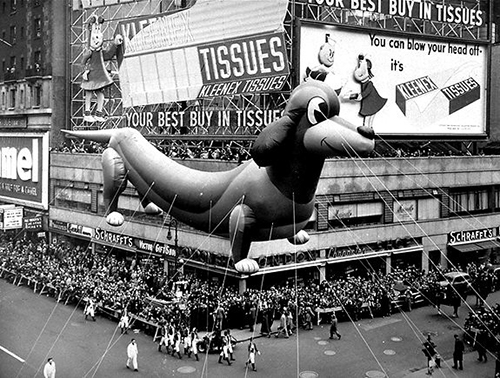 Macy's-thanksgiving-day-parade-1950-dog-balloon-vintage-photo-rocket-lulu