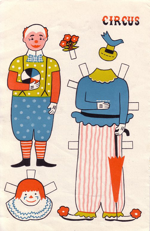 Ancien-jeu-papier-vintage-circus-clown-paper-doll-rocket-lulu1