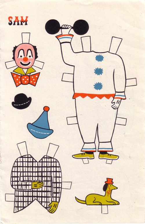 Ancien-jeu-papier-vintage-circus-clown-paper-doll-rocket-lulu2