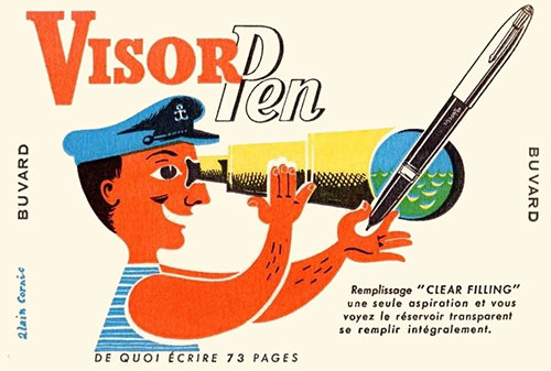 Visor-pen-ancien-buvard-vintage-blotting-paper-ad-rocket-lulu