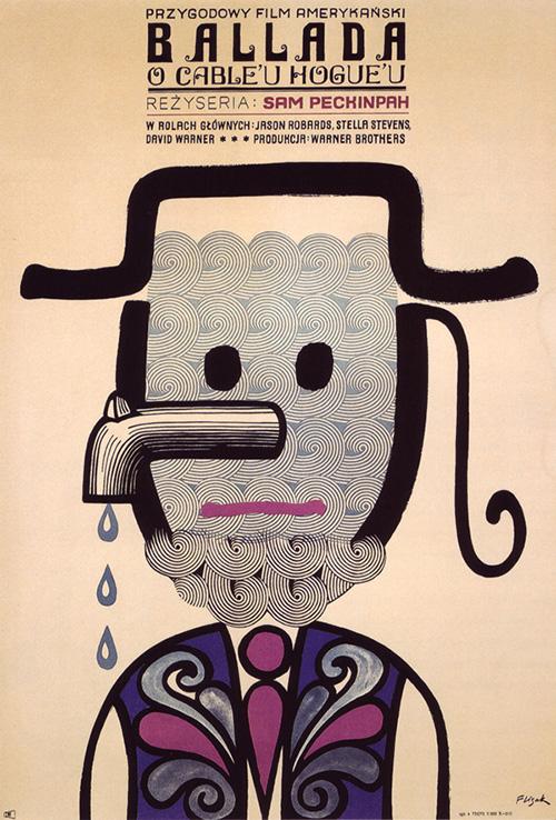 Affiche-cinema-the-ballad-of-cable-hogue-vintage-polish-poster-1972-jerzy-flisak-rocket-lulu