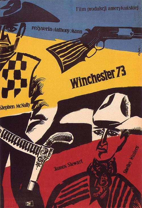 Affiche-cinema-Winchester-73-vintage-polish-poster-1958-jerzy-flisak-rocket-lulu