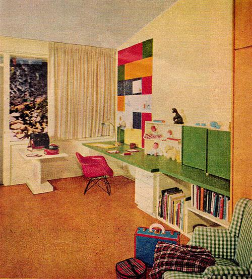 Chambre-enfant-bureau-retro-vintage-kids-room-midmod-design-1955-rocket-lulu