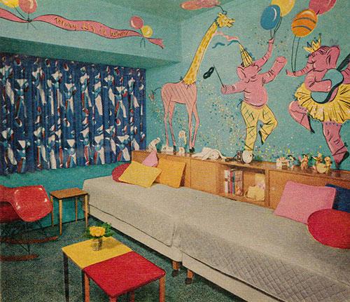 Chambre-enfant-retro-vintage-kids-room-midmod-circus-design-1955-rocket-lulu