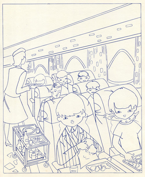 Ancien-coloriage-air_france-vintage-60s-4