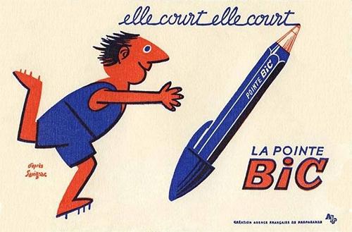 Pointe-bic-ancien-buvard-vintage-blotting-paper-ad-rocket-lulu