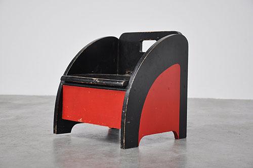 Chaise-vintage-enfant-moderniste-Vilmos_Huszar-1945-midmod-kids-design