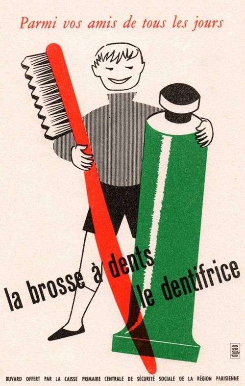 Dentifrice-ancien-buvard-vintage-blotting-paper-ad-rocket-lulu
