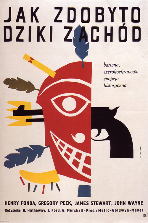 Affiche-cinema-how-the-west-was-won-vintage-polish-poster-1965-jerzy-treutler-rocket-lulu